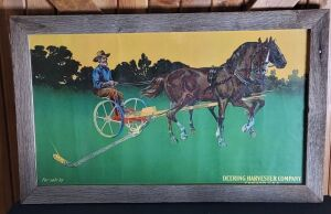 Deering Harvesting Co. Chicago, USA framed lithograph print