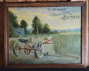 The Worcester Chain Gear Buckeye framed lithograph print
