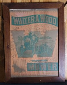 Walter A. Wood Tubular Steel Mower framed lithograph on canvas