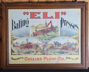 """Eli"" Baling Presses framed lithograph print"