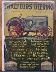 Tracteurs Deering 10-20 H.P. 15-30 H.P. French lithograph print