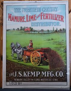 The Twentieth Century Manure, Lime and Fertilizer Distributor lithograph print