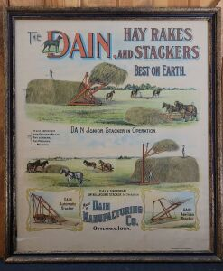 The Dain Hay Rakes and Stackers framed printer's proof lithograph