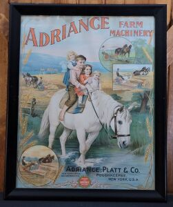 Adriance Farm Machinery framed lithograph print
