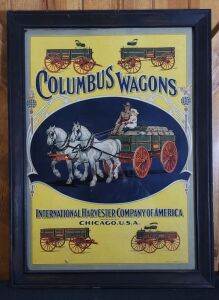 The Columbus Wagons framed lithograph print