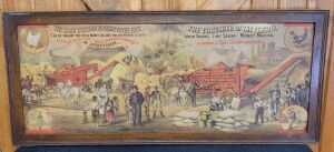 The Aultman & Taylor Co. threshing machine framed lithograph print