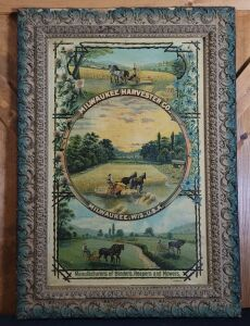 Milwaukee Harvester Co. large framed lithograph print