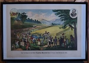 C.H. McCormick framed lithograph print