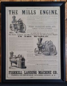 The Mills Engine framed lithograph print