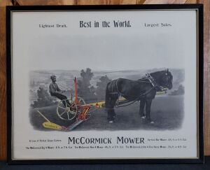 McCormick Mower framed lithograph print