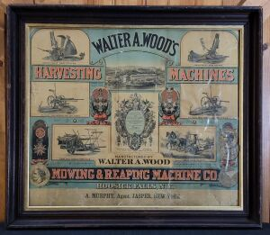 Walter A. Wood's Harvesting Machines framed lithograph print