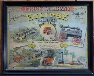 Frick Company Eclipse framed lithograph print
