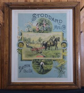 Stoddard Manufacturing Company framed lithograph print