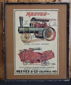 Reeves & Co. framed lithograph print