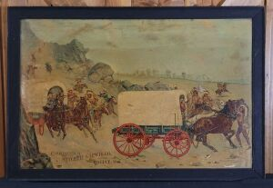 The Mitchell wagon framed lithograph print