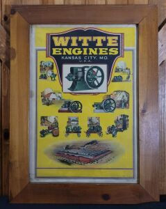 Witte Engines Kansas City, Mo. framed lithograph print
