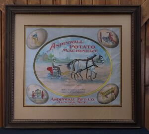 Aspinwall Potato Machinery framed lithograph print