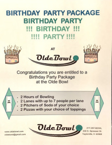 Olde Bowl Party!