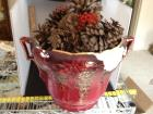 Antique Huge Double Handled Jardinaire Damaged on one side