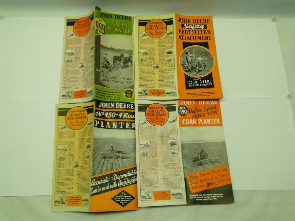 john deere 4 planter folding brochures