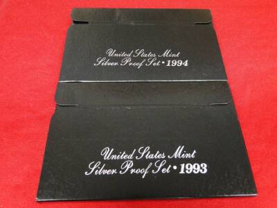 (2) U.S. Silver Proof Sets:  One Ea., 1993 and 1994