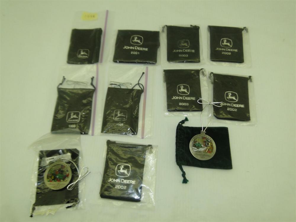 John Deere Christmas ornaments (11)-items including
