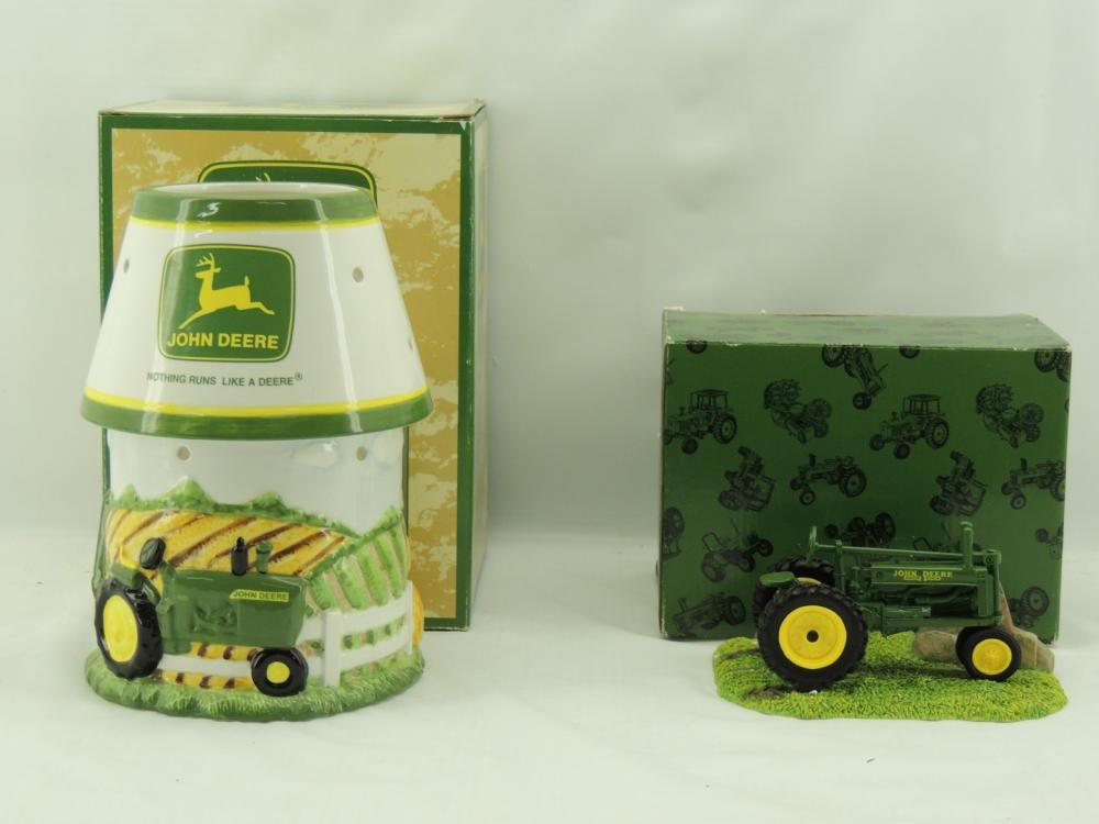 1/16th Enesco Picture Frame Holder w/ceramic John Deere