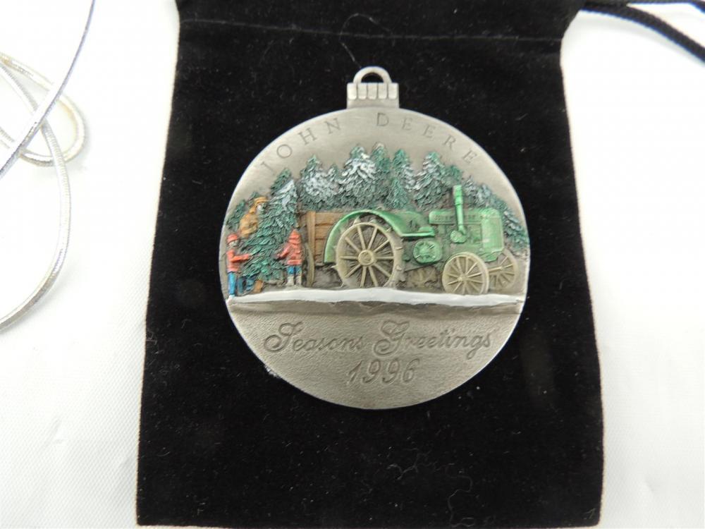 1 in Series 1996 John Deere Pewter Christmas Ornament