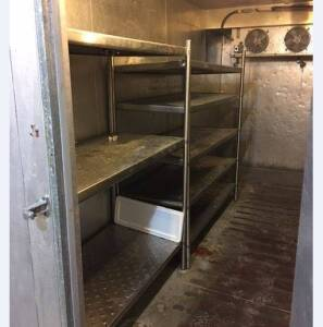 (3) Commercial Stainless Steel Shelving Racks