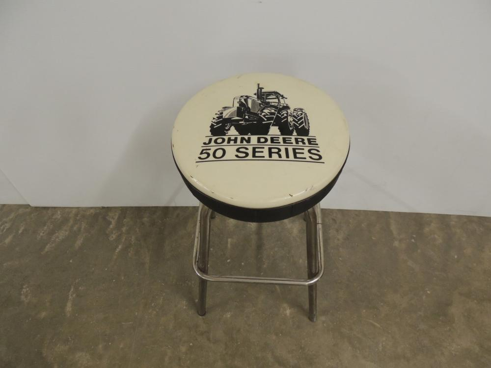 Lot 224 Of 316 John Deere Parts Counter Stool Shows A 50 Series Tractor