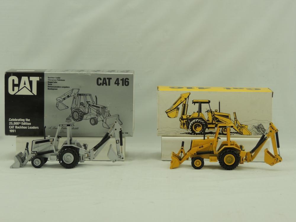 1/50th NZG Caterpillar (2)-416 backhoe loaders