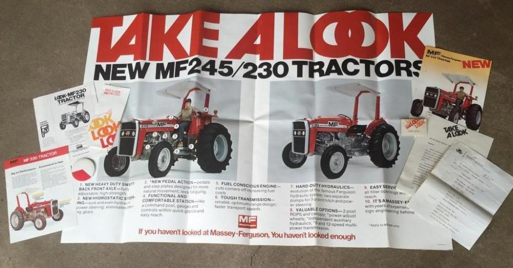 1976 Massey Ferguson 245/230 dealer promo kit