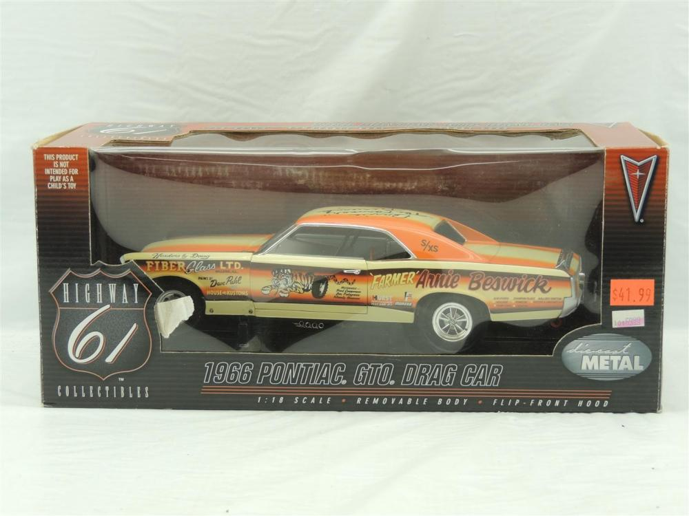 1/18th Die-Cast Promotions Highway 61 1966 Pontiac GTO Drag Car