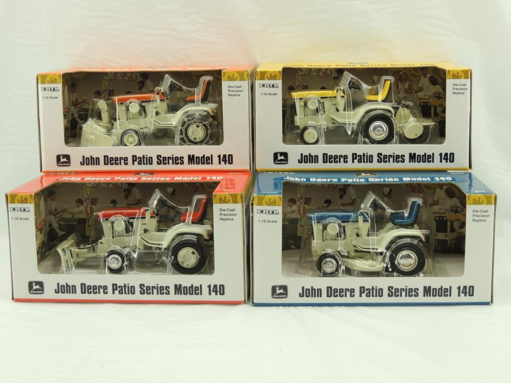 Lot 19 Of 375: 1/16th Ertl John Deere Patio Series Of (4) Model 140u0027s