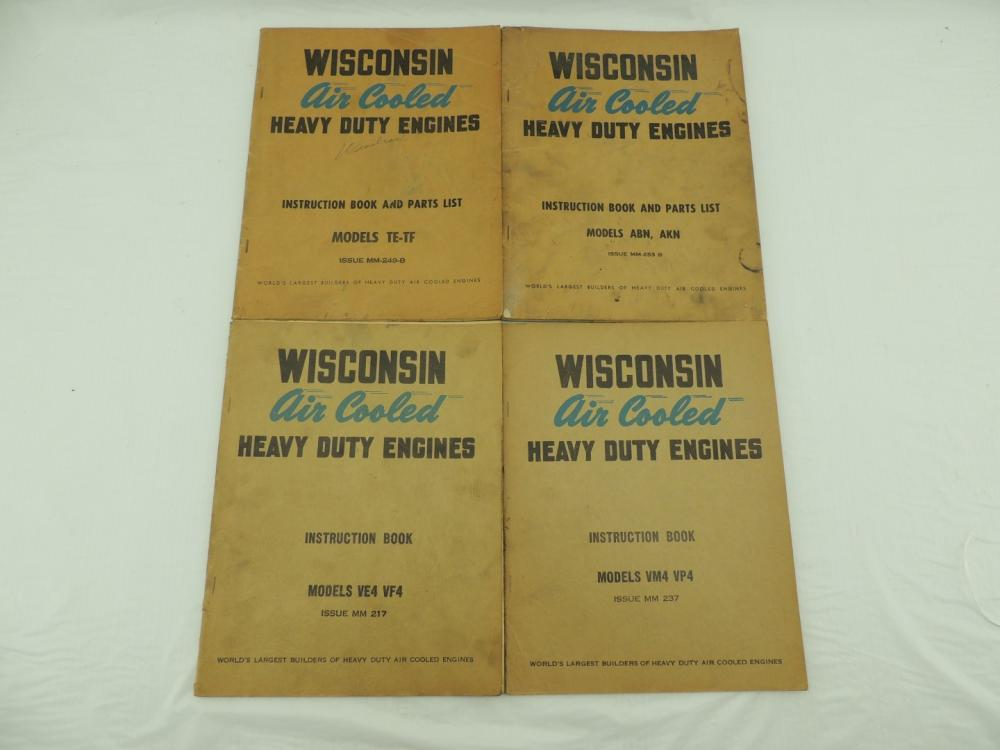 Wisconsin Engine Instruction Books (4)