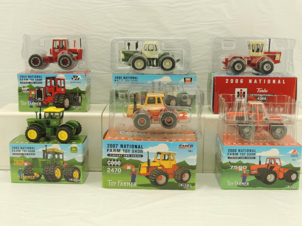 1 64th Ertl RC2 Various Makes 6 Toy Farmer Vintage 4WD Series