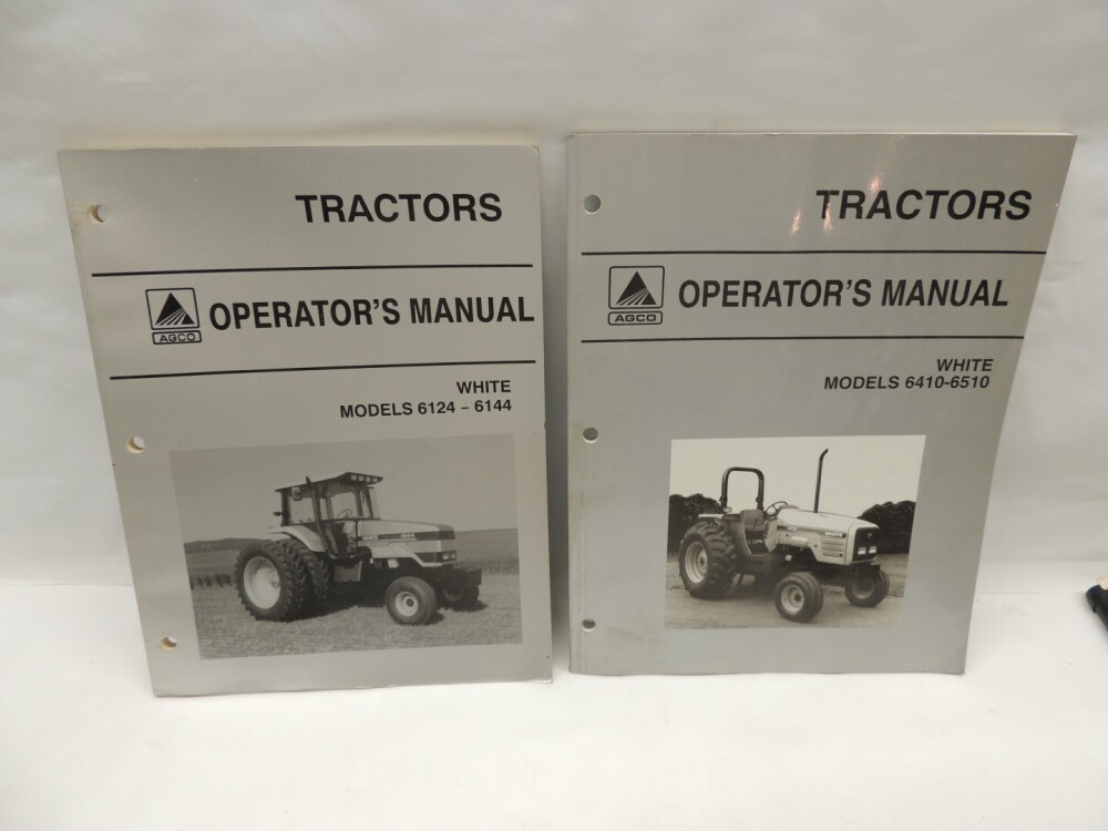 12)-White tractor manuals