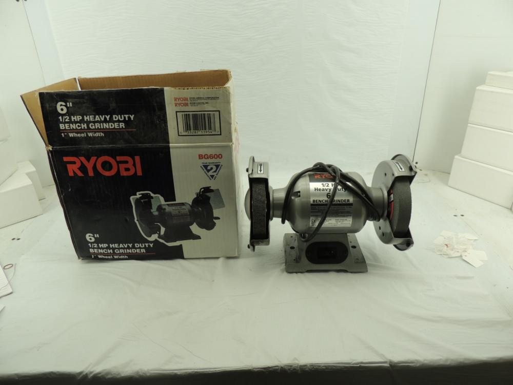 Astounding Ryobi 6 1 2 Hp Bench Grinder Caraccident5 Cool Chair Designs And Ideas Caraccident5Info