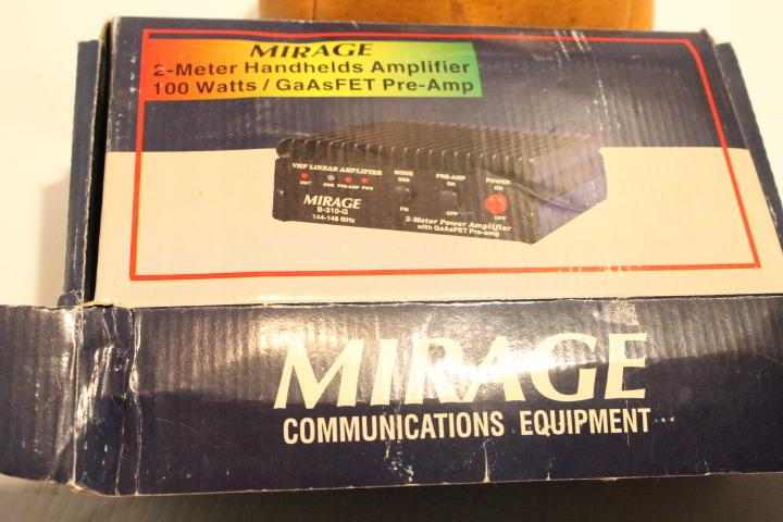 Mirage 2-Meter Handhelds Amplifier 100 Watts / GaAsFET Pre-Amp