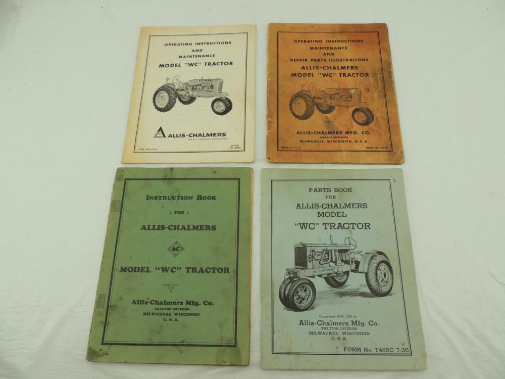 4 Allis Chalmers Model Wc Literature Items