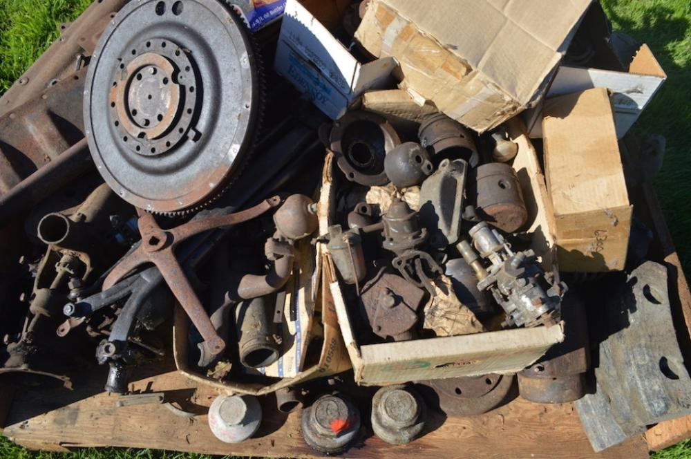 Pallet of Antique Car Parts
