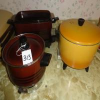CrockPot, bean pot and deep fryer
