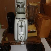 Blender, toaster, B&D can opener, small coffee maker and more