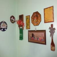 Wall hangings including kitchen clock