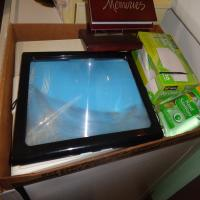 Bathroom scale, page size magnifier, photo display