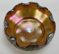 "3"" Tiffany  Salt Cellar Dip - Signed - favrile"