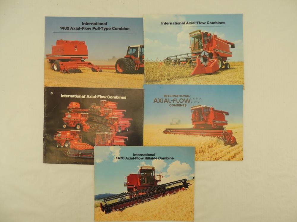 International Harvester 5 Different Axial Flow Combine Sales Booklets