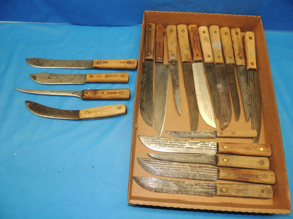 Lot of (19)-Old Hickory skinning/butcher knives