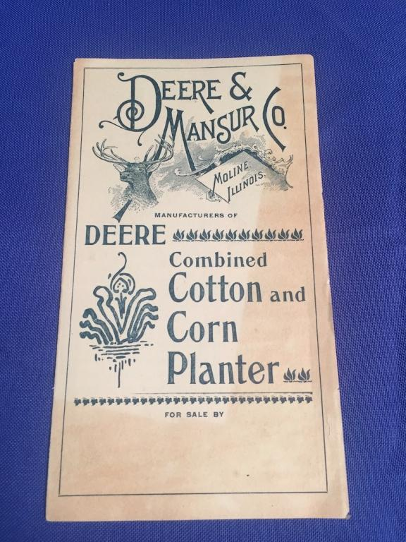 Deere Walk Behind Cotton Corn Planter Brochure