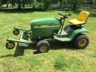 John Deere Lawn Tractor w/detacher attachment on front Deck included